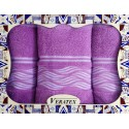 Luxusní dárkový froté set 1 osuška 2 ručníky VLNKY