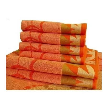 Froté osuška oranžová 70x140 cm 500g/m2