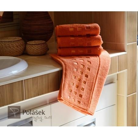 Frote ručník oranžový 50x100 cm 500 g/m2