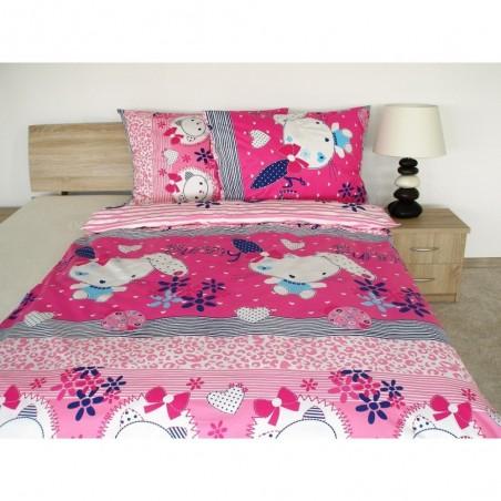 Dětské bavlněné povlečení růžové 70x90,140x200 cm