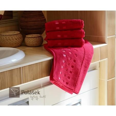 Frote ručník červený 50 x 100 cm 500 g/m2