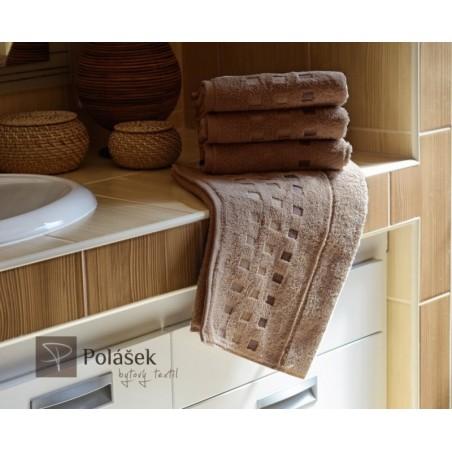 Frote ručník sv. hnědý 50 x 100 cm 500 g/m2