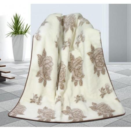 Vlněná deka růže - australské merino 155x200cm