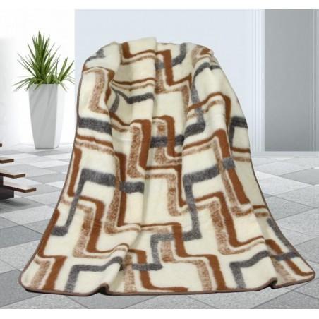 Vlněná deka obrazce - evropské merino 155x200cm