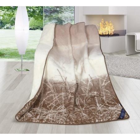 Vlněná deka DUO 155x200cm béžová australské merino