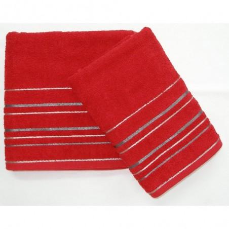Osuška frote červená 70x140 cm 450g/m2